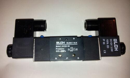 "blch Pneumatik válvula 5//2 ig1//4/"" 230 voltios bistabil et4v220-08-230vac"