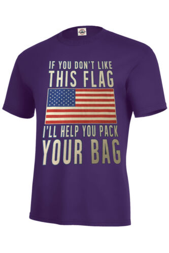 FLAG PRIDE TSHIRT RESPECT,NATIONAL ANTHEM,PACK YOUR BAG AMERICA PRIDE SIZE S-5XL