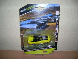 Maisto-Design-Muscle-1969-Corvette-Coupe-jaune-jaune-1-64