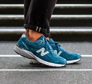 28d007257529 NEW BALANCE 990 M990NS4 NORTH SEA BLUE WHITE GREY-MADE IN USA ...