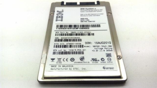 "IBM 50GB SSD 1.8"" Micro SATA Solid State Drive 43W7737"
