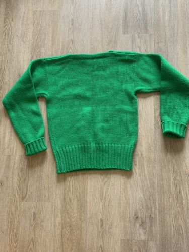 Vintage Brilliant Green Boatneck Sweater