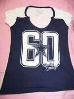 Cowboys Her Style Women's Dallas Cowboys Burn Out Shirt Bling Xs