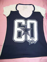Cowboys Her Style Women's Dallas Cowboys Burn Out Shirt Bling Xs