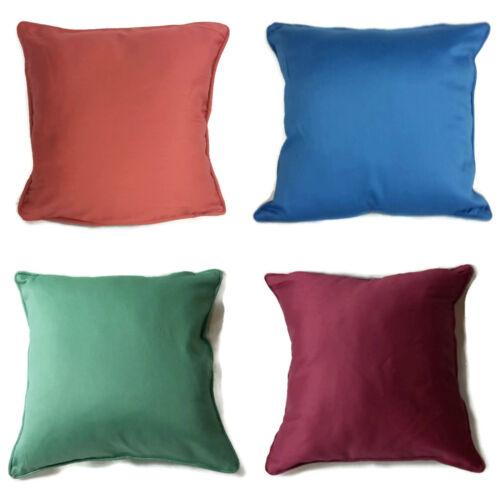 """Housses de coussin Uni Coton 16/""""x16/"""" NEUF vert bleu rouge burgundary"""