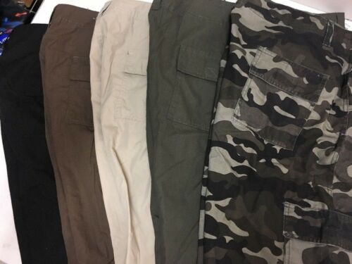 5 Colors Canyon Creek NWT Sizes 34-50 Men/'s Lightweight Twill Cargo Shorts
