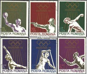 Rumänien 3035-3040 (kompl.Ausg.) gestempelt 1972 Olympische Sommerspiele