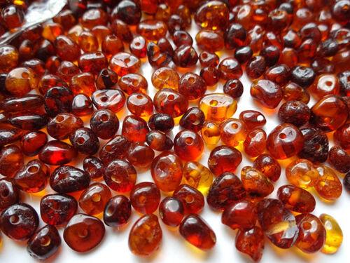 Wählen  Farbe Naturbernstein gebohrt auffädeln 10 gr ca.180 Perlen