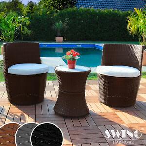 Poly Rattan Sitzgruppe mit Tisch für Garten, Balkon, Terasse Möbel ...