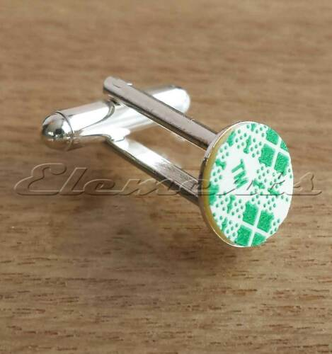 Cufflink Fittings Cuff Link Findings With Self Adhesive Base Backs Silver Plated