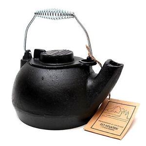 Old Mountain Cast Iron Tea Kettle Wood Stove Humidifier Ebay