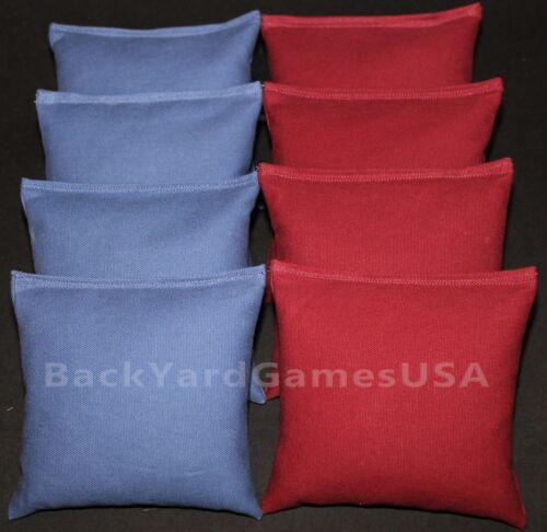 CORNHOLE BEAN BAGS Blue /& Maroon 8 ACA Corn Hole Game Bags
