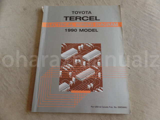 1990 Toyota Tercel Electrical Wiring Diagram Manual Oem