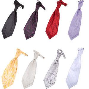 Hommes-Cravate-Lavalliere-Foulard-Mariage-Reglable-Floral-Multicolore-Marque-DQT