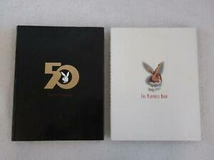 Lot-of-2-PLAYBOY-Books-FIFTY-YEARS-and-THE-PLAYMATE-BOOK-Hardcovers-w-DJ-039-s