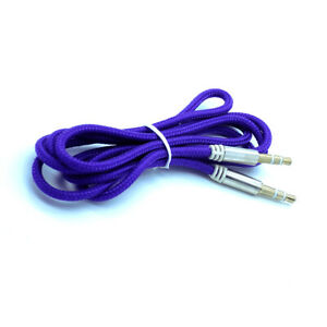 2-X-Strong-Braided-3-5mm-Jack-to-Jack-Stereo-Plug-Aux-Audio-Auxiliary-Cable-Lead