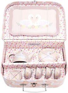 Sass & Belle Freya Swan Childrens teaset Tea Set & Carry Case Toy Playset