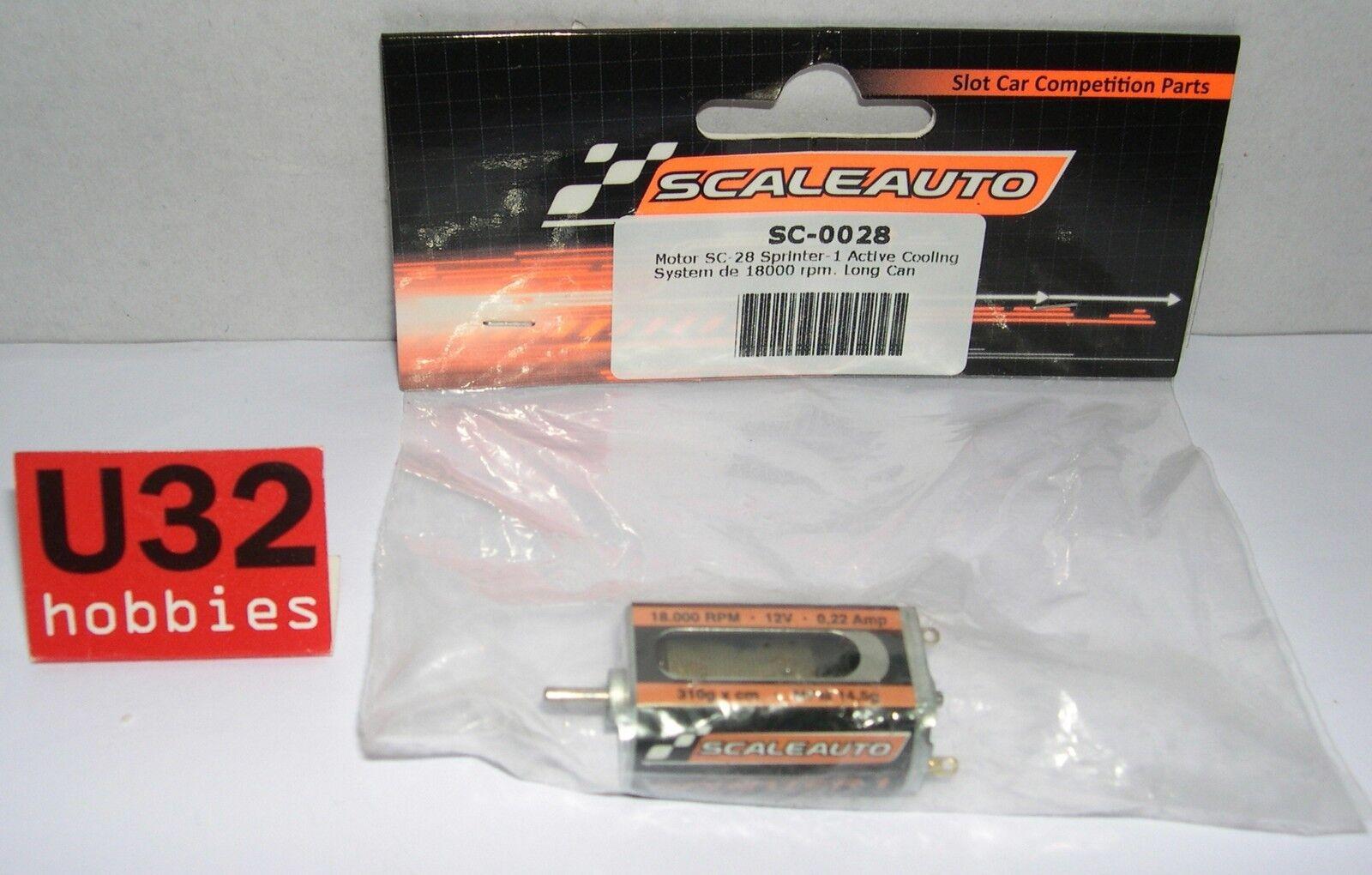 SCALEAUTO SC-0028 MOTOR SC-25 SPRINTER-1 18000rpm 12v 0.22 Amp 310gr MPM14.5gr