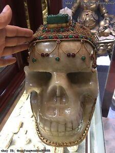 Natural Crystal Handwork Silver inlay beryl Gem Maya
