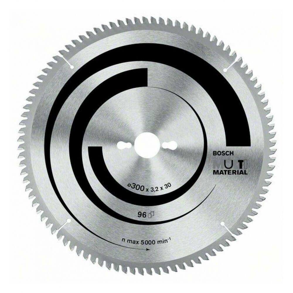 Bosch Kreissägeblatt Multi Material, 254 x 30 x 3,2 mm, 80