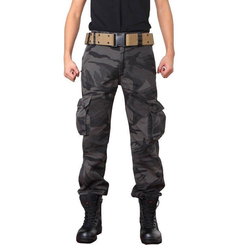 men militaire armée Pantalon Coton Combat Tactique Camouflage Cargo Travail