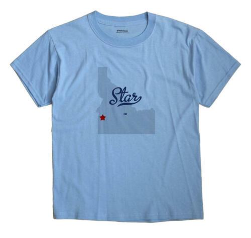 Star Idaho ID T-Shirt MAP