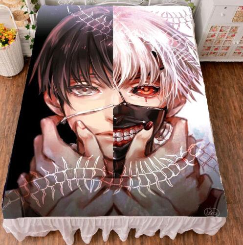 Anime Tokyo Ghoul Kaneki Ken Cosplay Flat Bed Sheet Bedding Blanket Gift Japan