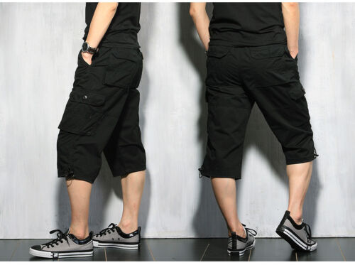 "Summer Mens Cargo Shorts Pants Rope Casual 100/% Cotton Work pant Waist 28/""-44/"""