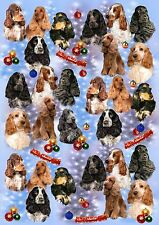 Cocker Spaniel Christmas Wrapping Paper By Starprint