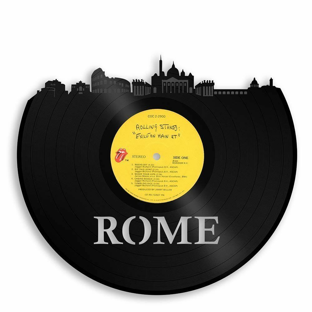 Rome Vinyl Wall Art City Skyline Unique Gift Anniversary Home Room Office Decor