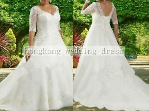 f71803eaefd9 Custom New White Ivory Wedding Dress Bridal Gown Plus Size 18 20 22 ...