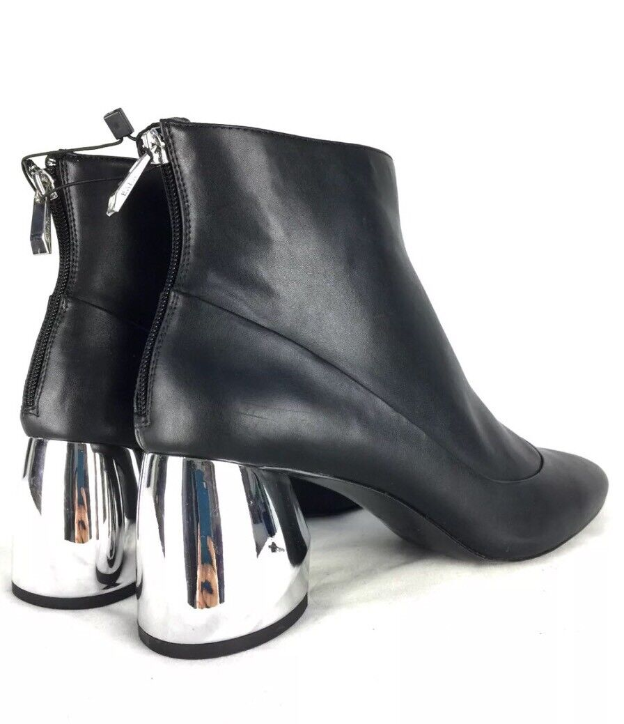 NWT ZARA BLACK ANKLE BOOTS WITH METAL HEEL SIZE US 8 REF. 7111/101