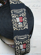 Vintage French Rayon Woven Beret Hat Label Ribbon Millinery 4 Labels Cara
