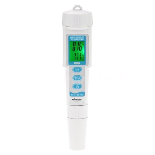 3 en 1 Stylo Portable Type Digital pH EC Temp Compteur qualité de l/'eau Moniteur Testeur