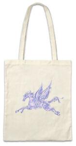 Winged-Horse-Stofftasche-Einkaufstasche-Pegasus-Rainbow-Horses-Gefluegeltes-Pferd