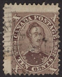CANADA-used-17-10c-11-75P-039-FIRST-CENTS-ISSUES-039-1859-64-FINE