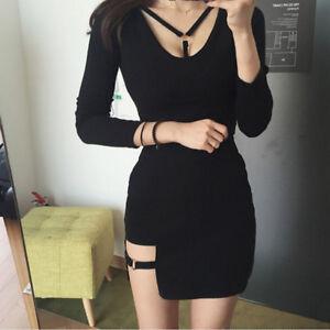 f6eefb2476 Image is loading Black-Women-Sexy-Mini-Skirts-Women-Asymmetrical-High-
