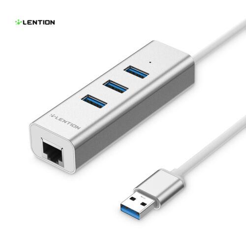 3-Port USB 3.0 HUB Splitter Ethernet Adapter for MacBook Pro Air Dell HP Laptops