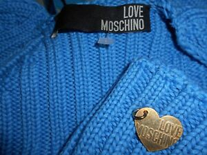 Cotton 100 8 Ribbed Cardigan Love It Uk Moschino Bnwot Blue 40 Pretty Shrug 76xHP