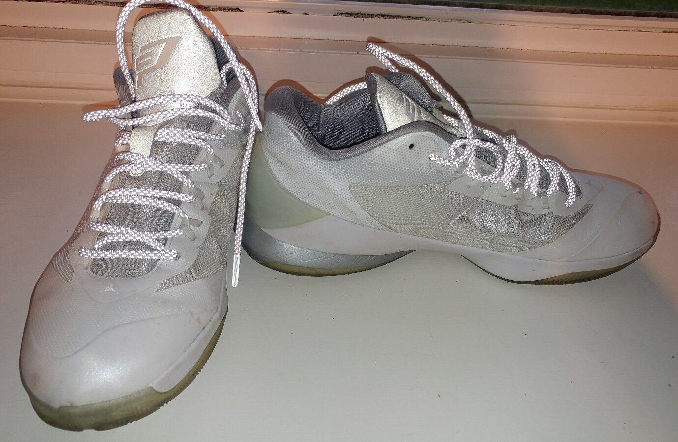 Nike Air Jordan CP3 VIII 8 715852-100 Chris Paul White Pure Platinum Mens 11