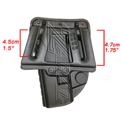 Belt Holster for Glock SIG S/&W CZ Beretta H/&K Springfield Taurus Walther Ruger