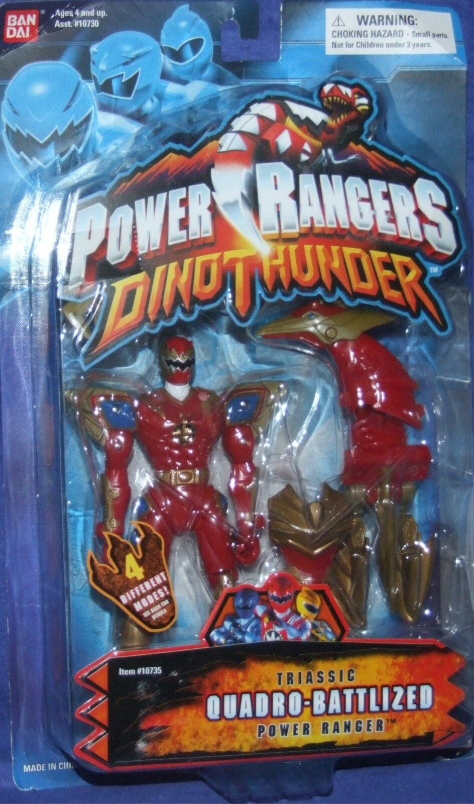 Power Rangers Dino Thunder Triassic Quadro-Battlized Ranger Nuovo Factory Sealed