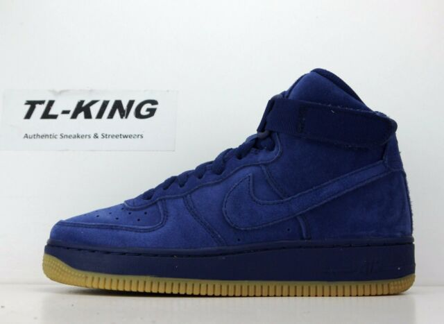 the best attitude d65ef 0c236 Nike Air Force 1 High LV8 GS Youth Suede Blue Void Gum Bottom 807617 401 CN