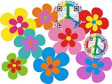 Blumen Aufkleber Hippie Blumen Auto Aufkleber: Mini 08 - 51 Stk. - bunt gemisch
