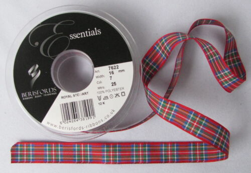 Stewart Royal Tartan Ribbon various widths cut lengths and 25m reels