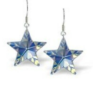 NEW! Byzantium Collection Aurore Boreale Star Drop Earrings/Ideal Gift