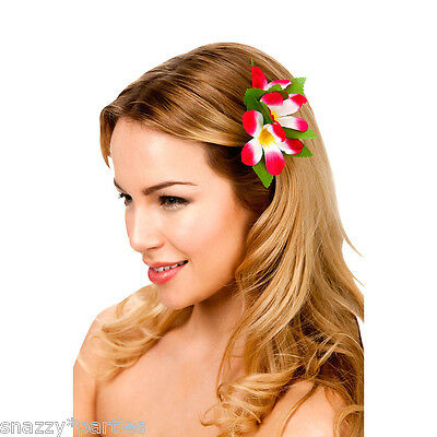 Adult Kids HAWAIIAN FLOWER HAIR CLIP Fancy Dress Accessory Novelty Summer Party