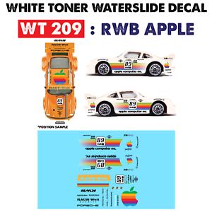 Wt209 White Toner Waterslide Decals Raw Apple For Custom 1 64 Hot Wheels Ebay