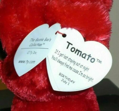 Ty Beanie Boos TOMATO the Dog NEW MWMT 6 Inch Gift Show Exclusive