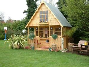 Details About Wooden Playhouseplay Housewendyhousewendy House 8x8 2 Storey Swiss Chalet